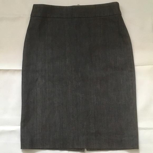 J Crew dark indigo denim stretch pencil skirt mini